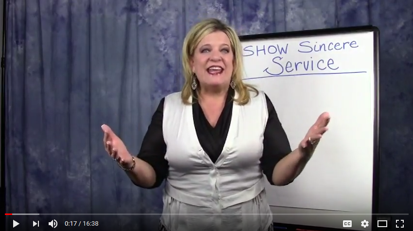 How to SHOW Sincere Service